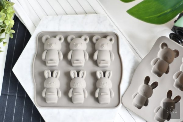 Rabbit and Bear Silicone Mould 1