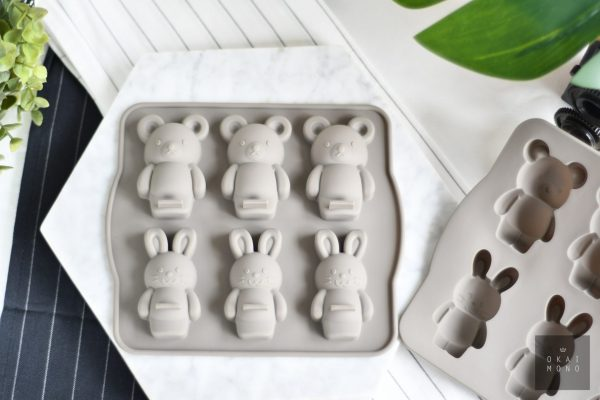 Delightful Rabbit and Bear Silicone Mould 1