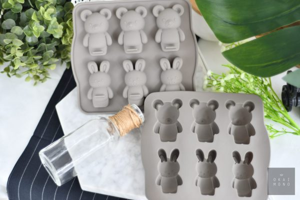 Delightful Rabbit and Bear Silicone Mould 2