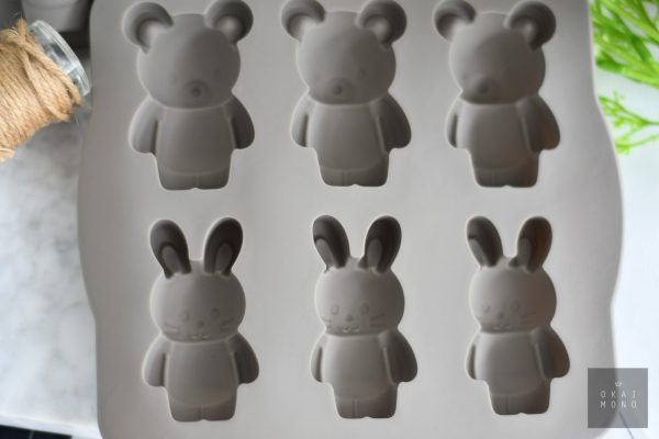 Delightful Rabbit and Bear Silicone Mould 3