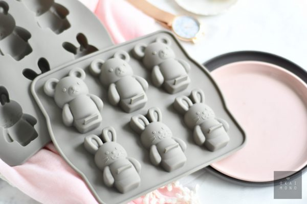 Delightful Rabbit and Bear Silicone Mould 5