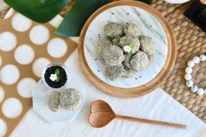 10 Easy Steps to Delectable Black Sesame Pebble Cookies by Bakeomaniac! 3