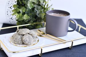 10 Easy Steps to Delectable Black Sesame Pebble Cookies by Bakeomaniac! 2