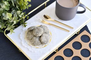 10 Easy Steps to Delectable Black Sesame Pebble Cookies by Bakeomaniac! 1
