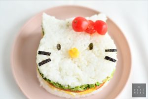 Hello Kitty Onigirazu (Rice Sandwich) perfect for bentos or a snack! 6